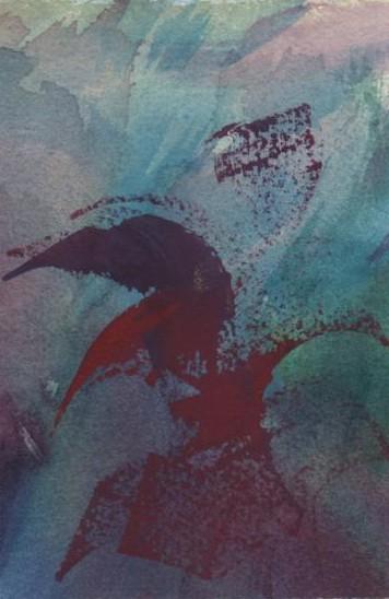 watercolor & gouache, app. 3 x 5 inches