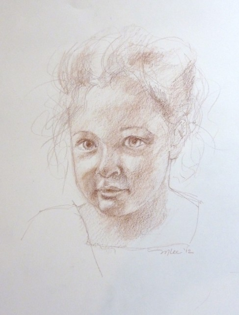 Conte Crayon Drawing Portrait