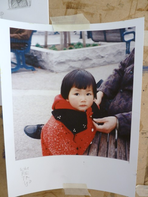 Little Girl in the Red Coat Painting