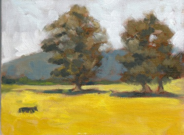 Lone Cow 2013, 8 x 6 in., oil on canvas panel