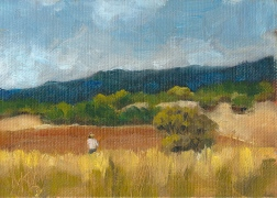 Blue Mountains 2013, 8 x 6 in., oil on canvas panel