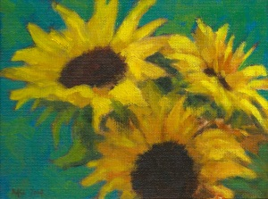 Three Sunflowers 300