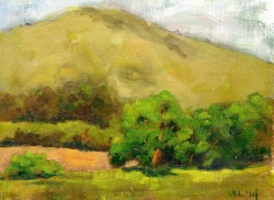 Clarence Scott Hill Ranch, 8 x 6 in., oil on canvas panel