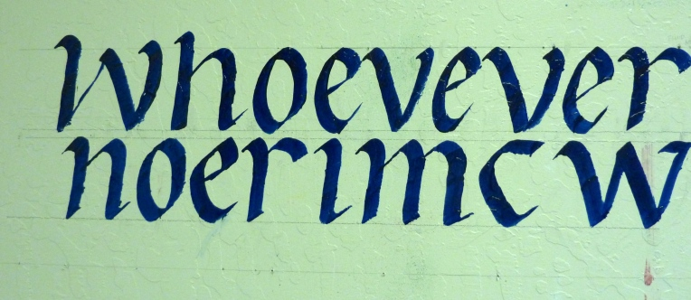 Fluid Acrylic for Calligraphy on Wall