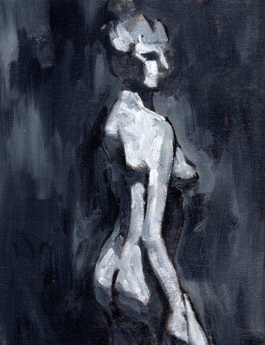 oil on canvas panel, 9x12