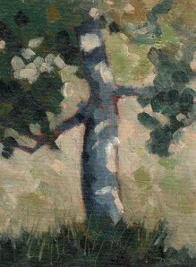 7_19_14 Walnut Tree at Martin Ranch 6x8 oil
