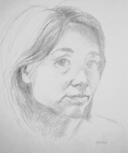 Self portrait pencil