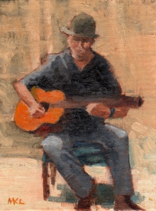Strumming Memories 090914 oil 6x8