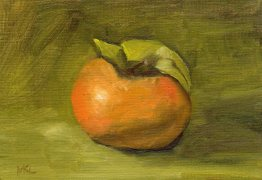 103014 Pomegranate with Leaves I 7x5 oil