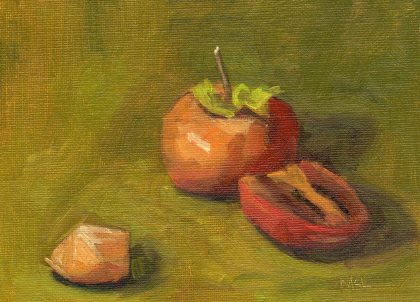 2014 Cut-Up Persimmon oil 8x6