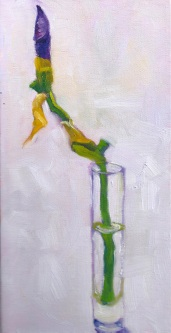 About to Bloom, 12 x 6 inches, oil on stretched canvas. This painting was juried into the Crocker-Kingsley Art Competition 2015, SOLD - https://marleneleeart.com/2014/02/21/about-to-bloom/