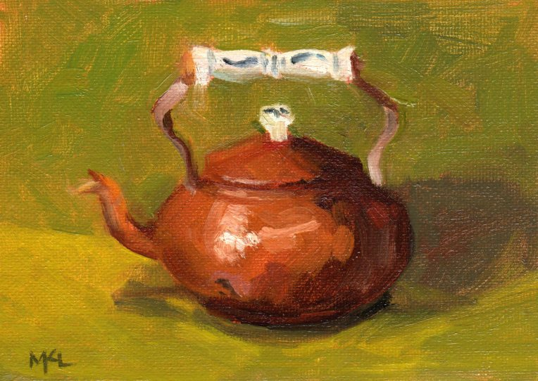 Copper Kettle 2014 oil 5 x 7