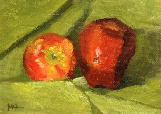 Hole in Apple 2014 oil 6 x 8