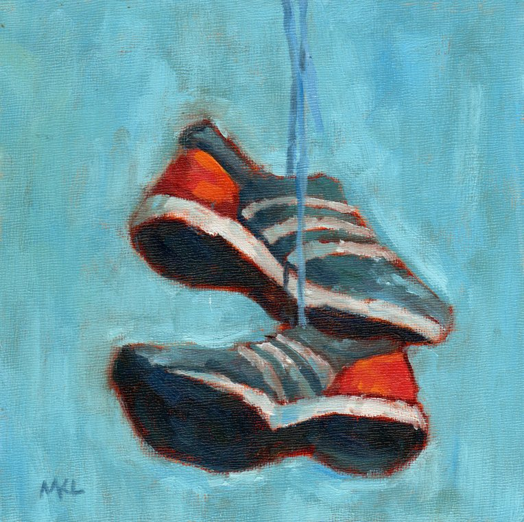Flying Shoes 2014 oil 8x8