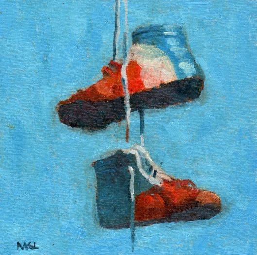 Patriotic Shoes 2014 oil 8x8