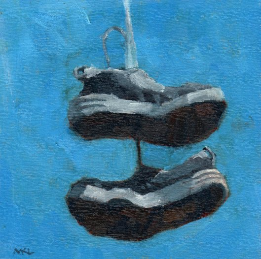 Play Shoes 2014 oil 8x8
