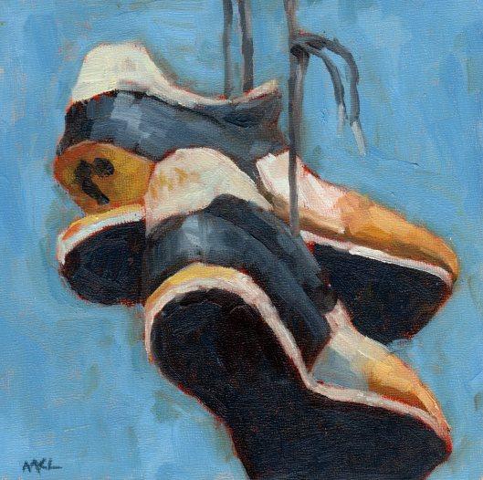 Soleless Shoe 2014 oil 8x8