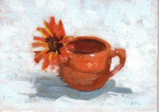 Orange flower in Jar 032515 oilcoldwax 5x7
