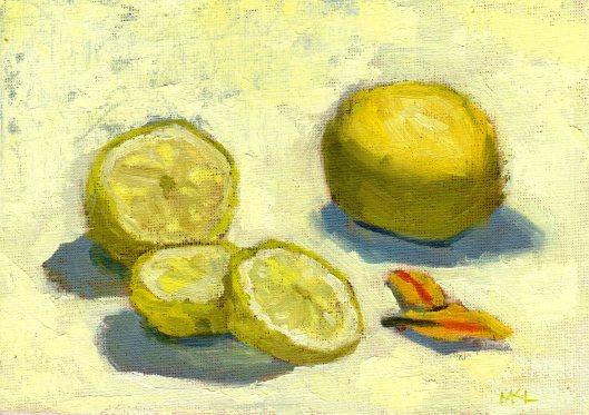 Sliced Lemon 032215 oilcoldwax 5x7