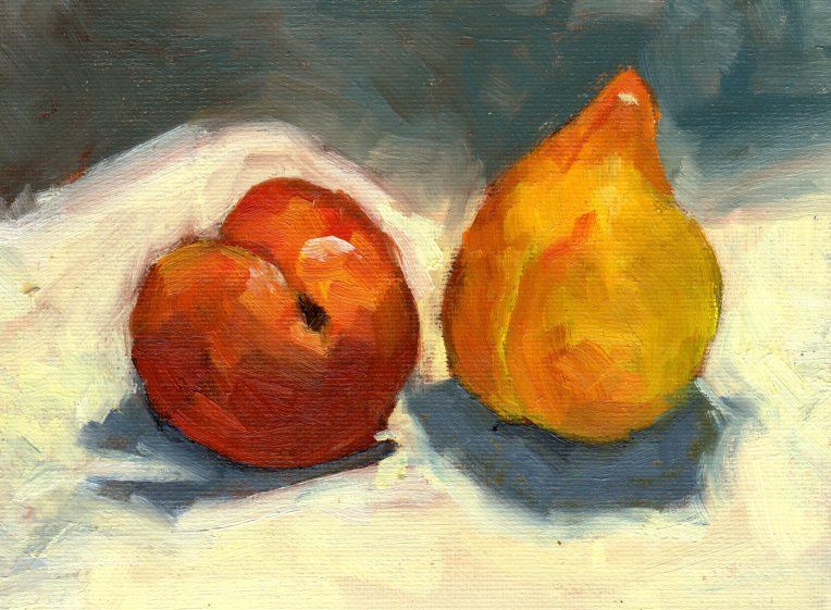 Two of a Kind Plums 2015 oil 6x8