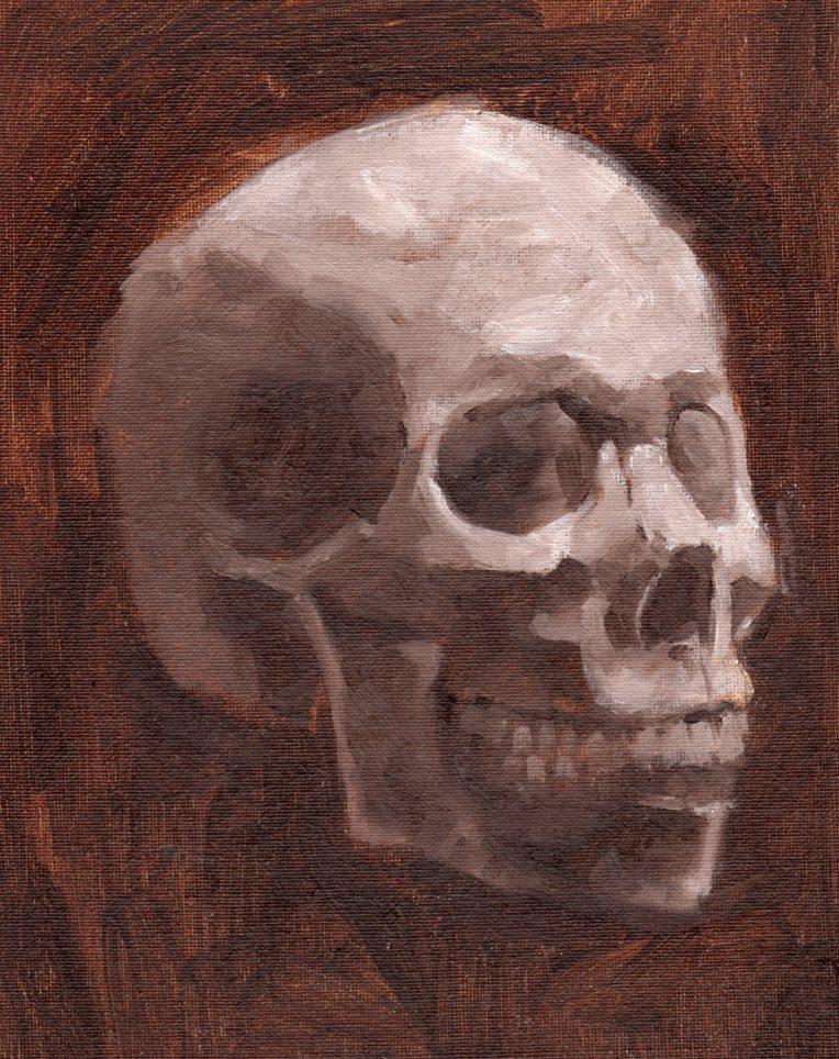 Skull 3:4 painting 2
