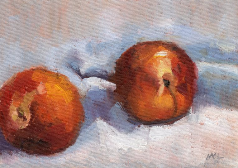 071915Two Nectarines5x7oil