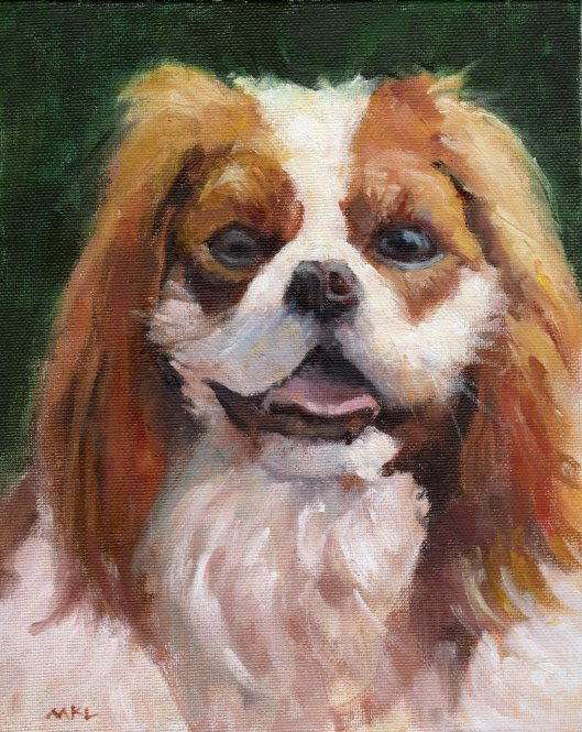 Cookie, oil, 10 x 8 inches