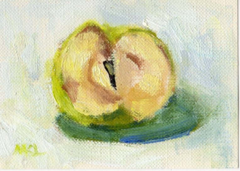 Day 10 Garlic Apple oil_2015_ACEO