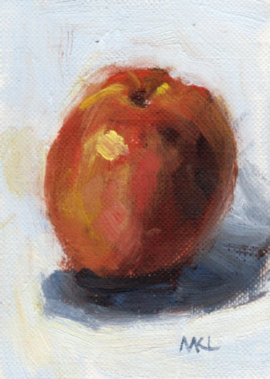 Day 11 Red Apple oil 2015 ACEO