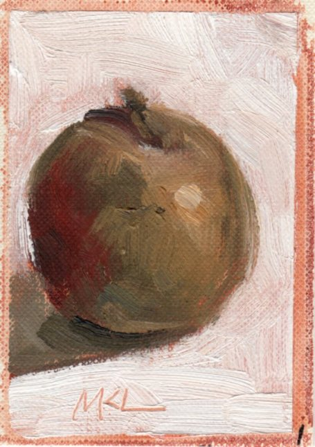 Found Fallen Apple_oil_080115_3.5x2.5