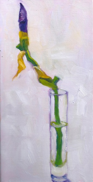 About to Bud 12 x 6 x 3/4 inches oil SOLD, Juried in the Crocker/Kingsley Exhibit 2015