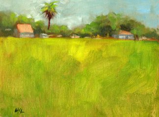 Cache Acres Dairy Palm Tree, oil on canvas panel, 6 x 8 inches