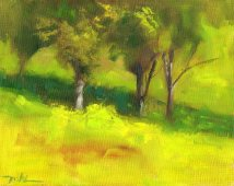 Capay Valley Vineyard, oil, 8 x 10 inch.