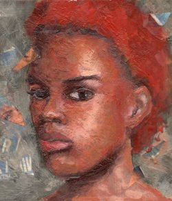 Girl with the Red Hair Feb2015 encaustic 10x10