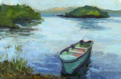 Isle of Innisfree, oil on stretched canvas, 24 x 36 inches, commissioned