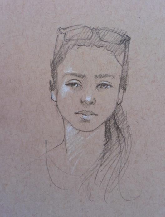 Older Sister drawing