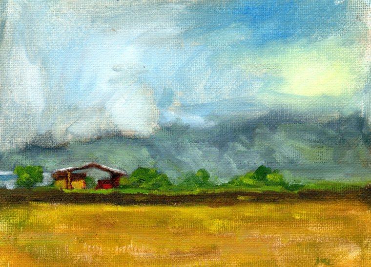 Cloverleaf Farm, 6 x 8 inches, oil, 2015