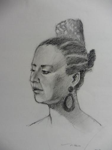 Eva, charcoal