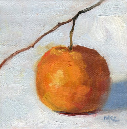 Little Orange with Stem 4x4x1.5 oil 012216