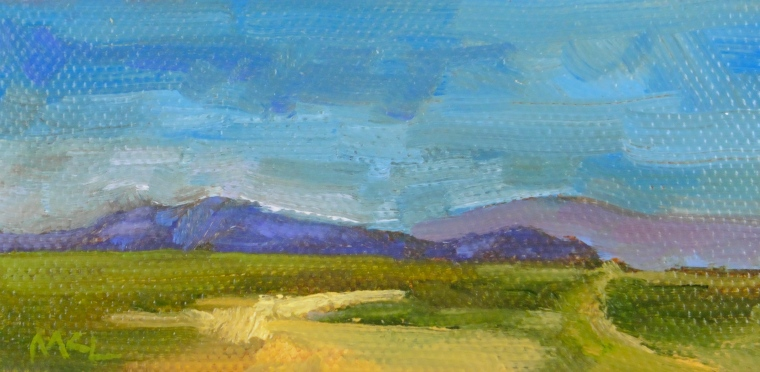 Blue Mountains 2016, 2 x 4 x3/8, oil on stretched canvas SOLD