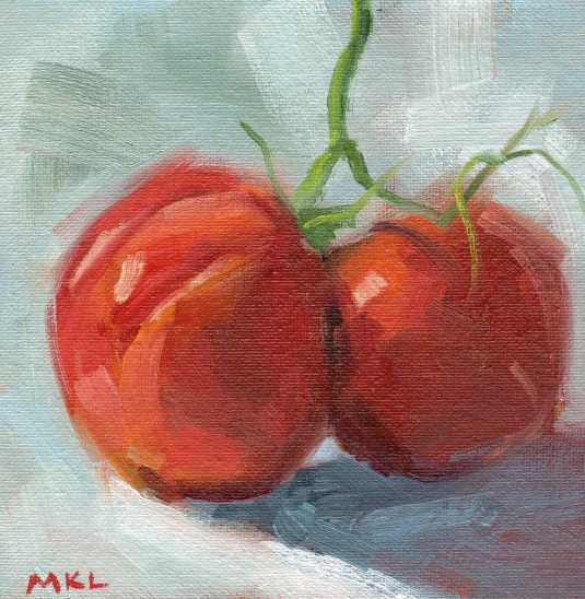 149 Heirloom Tomatoes 6x6 oil.jpg