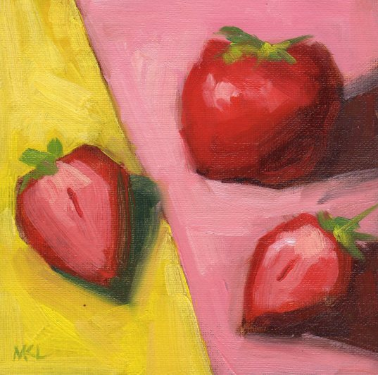 169 Strawberries on Pink and Yellow.jpg