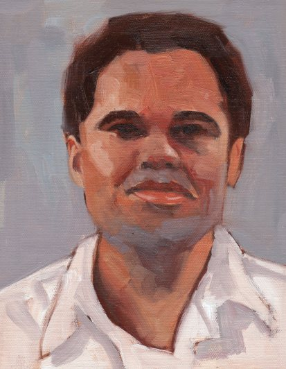 Young man, 8 x 6 inches oil on canvas panel