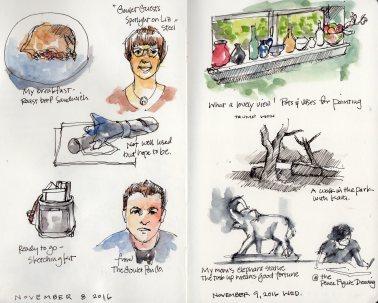Sketches by Marlene Lee, 11/8/16