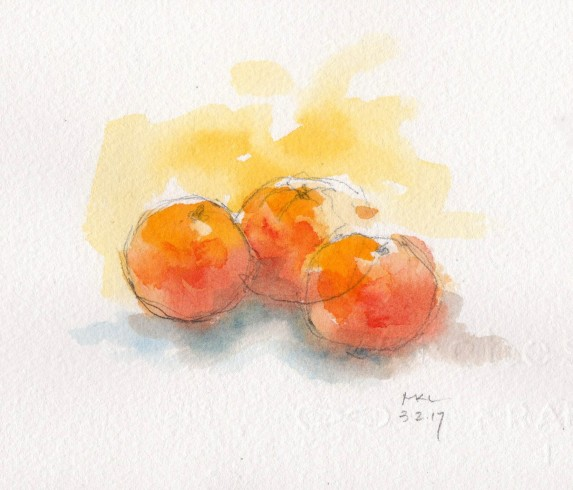 Three Tangerines
