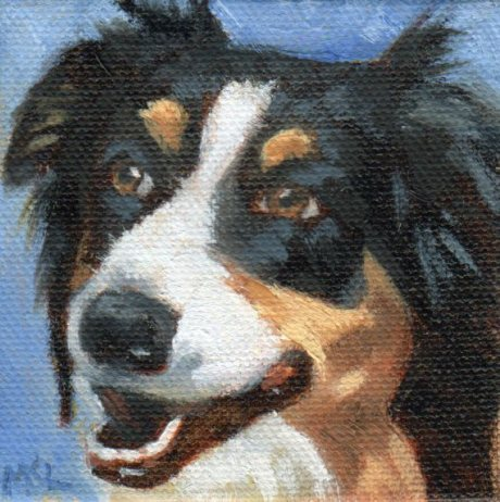 Charley, 3 x 3 x 1/4 inches oil on canvas