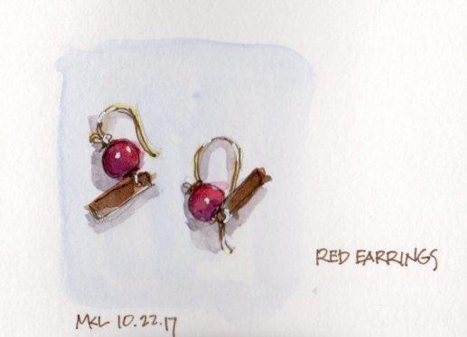 102217 Red Earrings