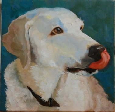 """Marla"" 10 x 10 x 1 1/2 inches, oil by Marlene Lee"