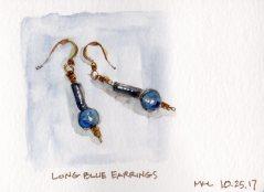 102517 Long Blue Earrings