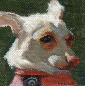 """""""So Bright"""" 3 x 3 inches oil on canvas by Marlene Lee"""